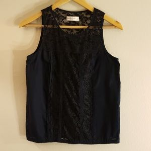 LIKE NEW! ABERCROMBIE LACE PANEL SLEEVELESS TOP